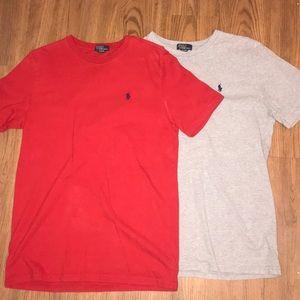 Two Ralph Lauren Polo T-Shirts
